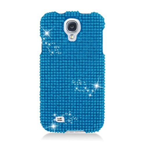 Insten Hard 3D Diamante Case For Samsung Galaxy S4, Blue