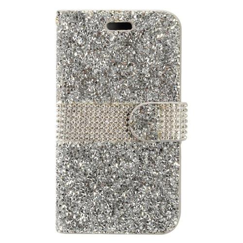 Insten Wallet Case for HTC Desire 530 - Silver