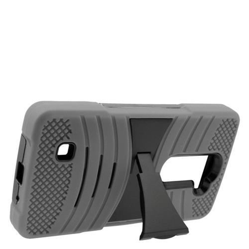 Insten Soft Hybrid Rubber Hard Case w/stand For LG Volt 2, Gray/Black