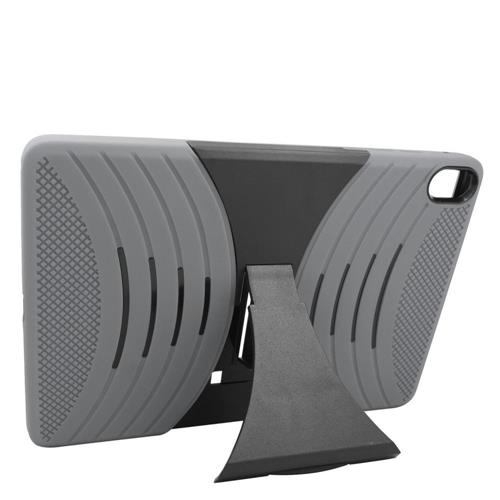 Insten Skin Dual Layer Rubber Hard Cover Case w/stand For HTC Google Nexus 9, Gray/Black