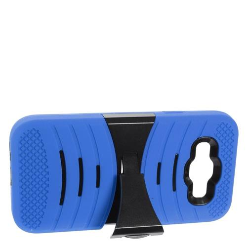 Insten Rubber Hybrid Hard Cover Case w/stand For Samsung Galaxy E5, Blue/Black
