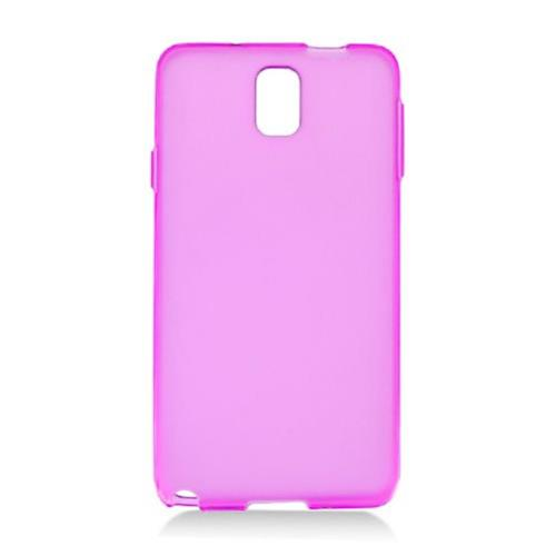 Insten Frosted TPU Case For Samsung Galaxy Note 3, Hot Pink