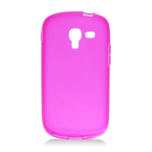 Insten Frosted Rubber Case For Samsung Galaxy Exhibit T599, Hot Pink