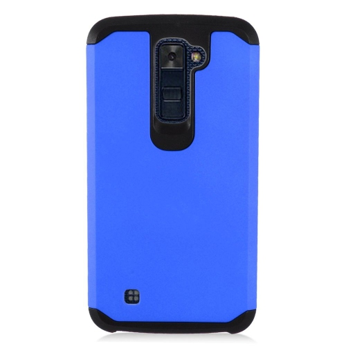 Insten Hard Hybrid TPU Cover Case For LG K10 (2016), Blue/Black