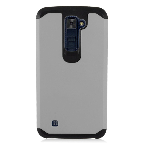 Insten Hard Dual Layer TPU Cover Case For LG K10 (2016), Gray/Black