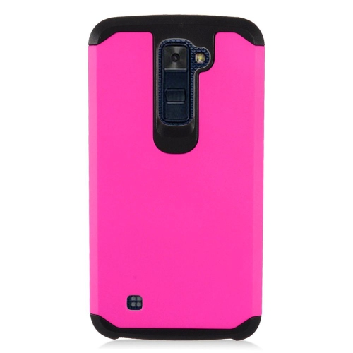 Insten Hard Dual Layer TPU Case For LG K10 (2016), Hot Pink/Black