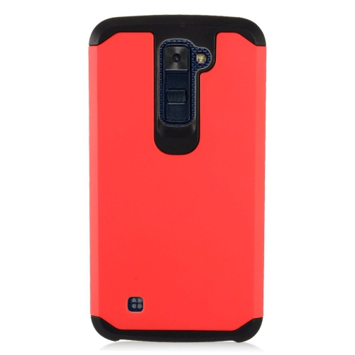 Insten Hard Hybrid TPU Case For LG K10 (2016), Red/Black