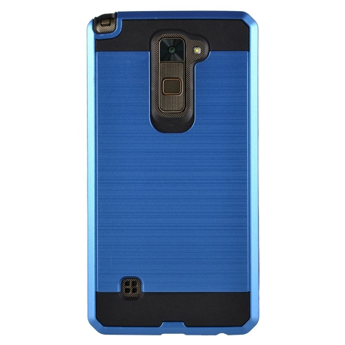 Insten Chrome Hybrid Brushed Hard Cover Case For LG Stylo 2/Stylus 2, Blue/Black