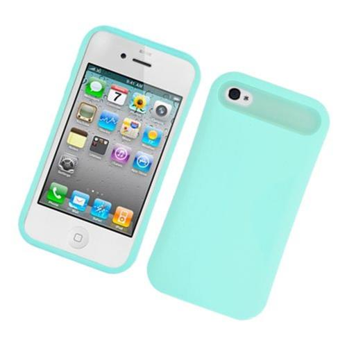 Insten Night Glow Hard Jelly Silicone Case For Apple iPhone 4/4S, Mint Green