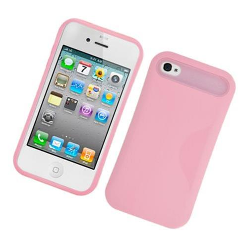 Insten Night Glow Hard Jelly Silicone Cover Case For Apple iPhone 4/4S, Pink