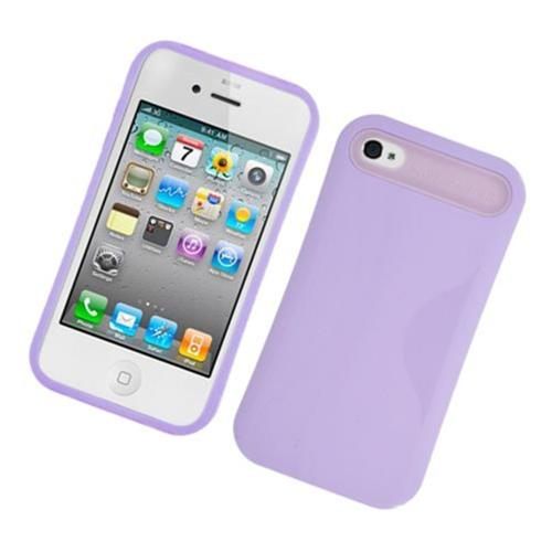 Insten Night Glow Hard Jelly Silicone Cover Case For Apple iPhone 4/4S, Purple