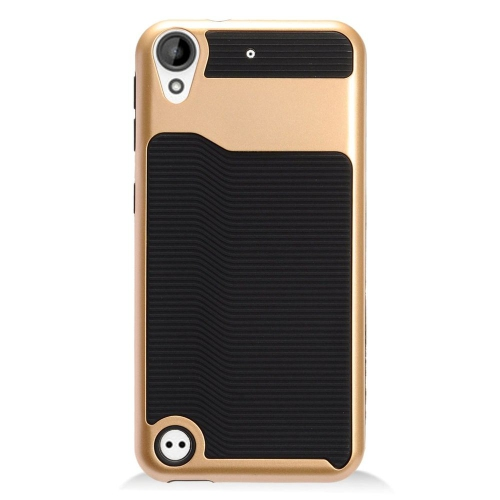 Insten Slim Hard Dual Layer Plastic TPU Cover Case For HTC Desire 530, Black/Gold