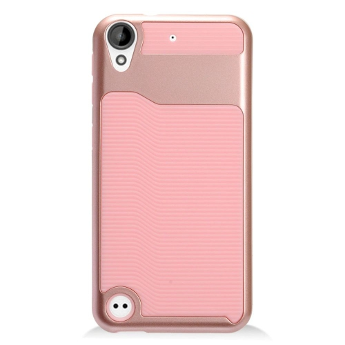 Insten Slim Hard Dual Layer Plastic TPU Cover Case For HTC Desire 530, Pink/Rose Gold