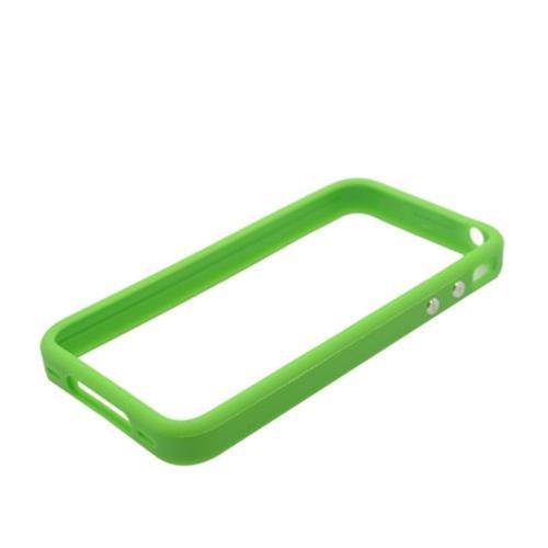 Insten Gel Bumper For Apple iPhone 4/4S, Green
