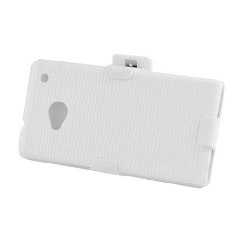 Insten Hard Case w/Holster For HTC One M7, White
