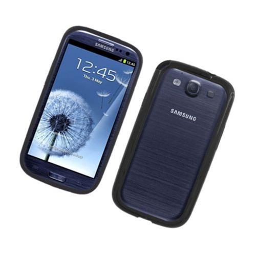 Insten Rubber Bumper For Samsung Galaxy S3, Black