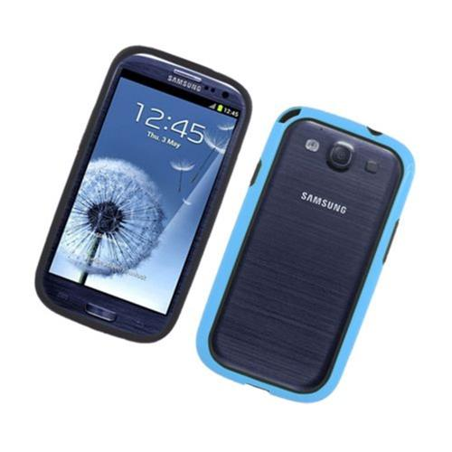 Insten TPU Bumper For Samsung Galaxy S3, Black/Blue