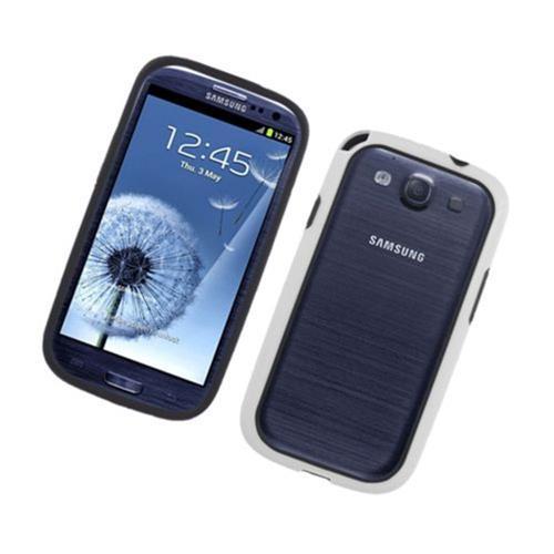 Insten Gel Bumper For Samsung Galaxy S3, Black/White