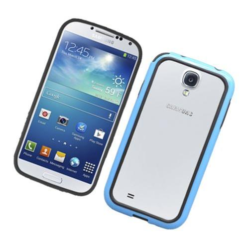 Insten Gel Bumper For Samsung Galaxy S4, Black/Blue