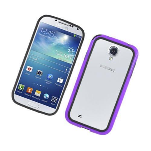 Insten TPU Bumper For Samsung Galaxy S4, Black/Purple