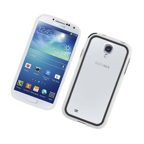 Insten Rubber Bumper For Samsung Galaxy S4, Black/White