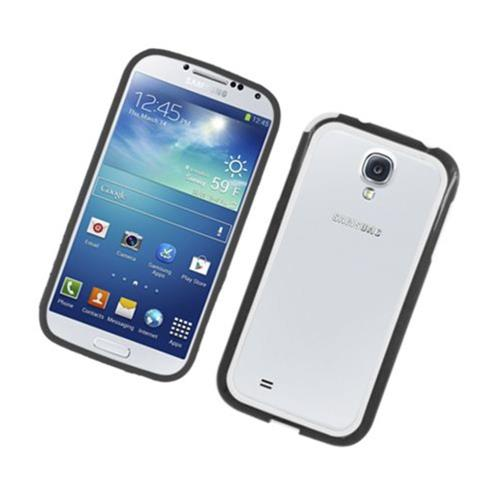 Insten Gel Bumper For Samsung Galaxy S4, Black/White