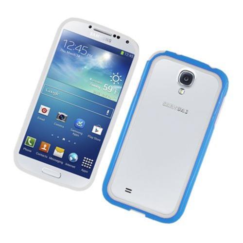 Insten Gel Bumper For Samsung Galaxy S4, White/Blue