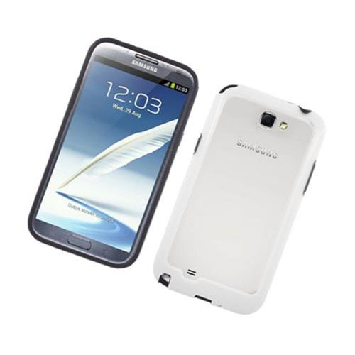 Insten TPU Bumper For Samsung Galaxy Note II, Black/White