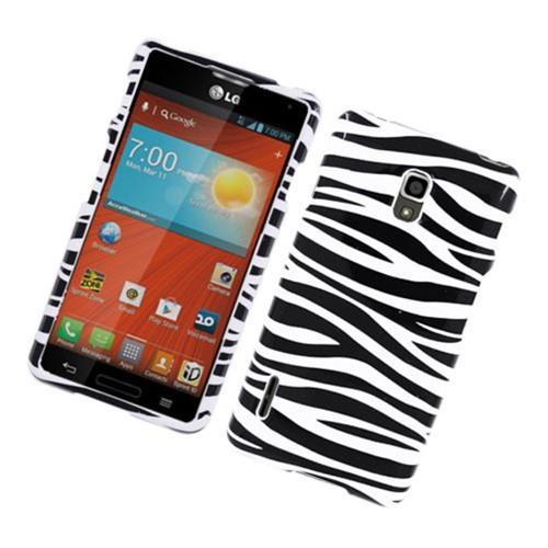 Insten Zebra Hard Cover Case For LG Optimus F7 LG870, Black/White