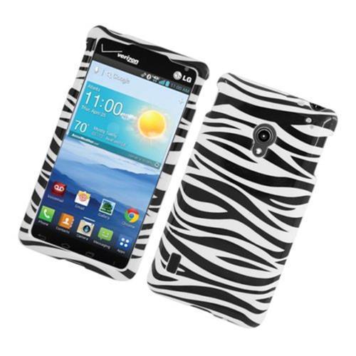 Insten Zebra Hard Cover Case For LG Lucid 2 VS870, Black/White