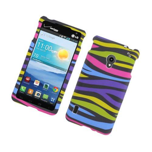 Insten Zebra Hard Rubber Cover Case For LG Lucid 2 VS870, Colorful