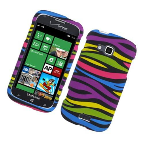 Insten Zebra Hard Rubberized Case For Samsung ATIV Odyssey, Colorful