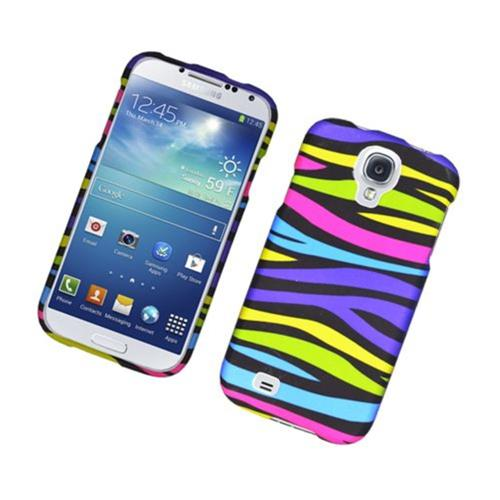 Insten Zebra Hard Rubber Coated Case For Samsung Galaxy S4, Colorful