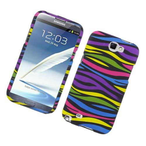 Insten Zebra Hard Rubberized Case For Samsung Galaxy Note II, Colorful