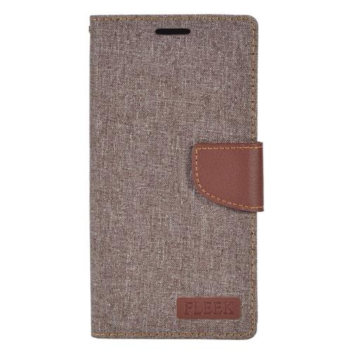 Insten Folio Leather Fabric Case w/stand/card holder/Photo Display For LG V10, Gray/Brown