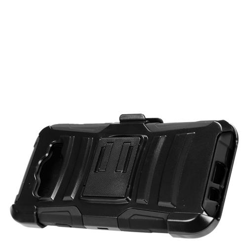 Insten Hard Hybrid Plastic Silicone Cover Case w/Holster For Samsung Galaxy E5, Black