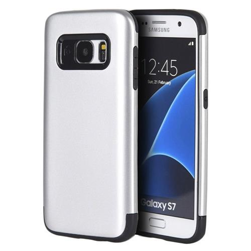 Insten Hard Plastic TPU Case For Samsung Galaxy S7, Silver