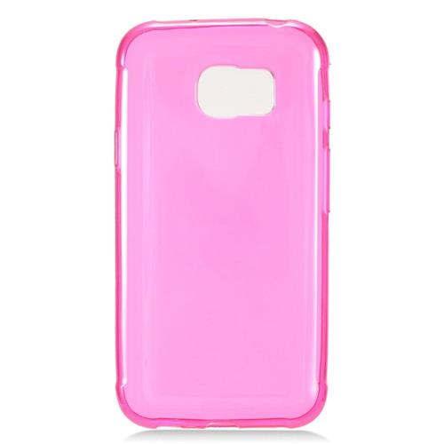 Insten Frosted Rubber Case For Samsung Galaxy S7 Active, Hot Pink