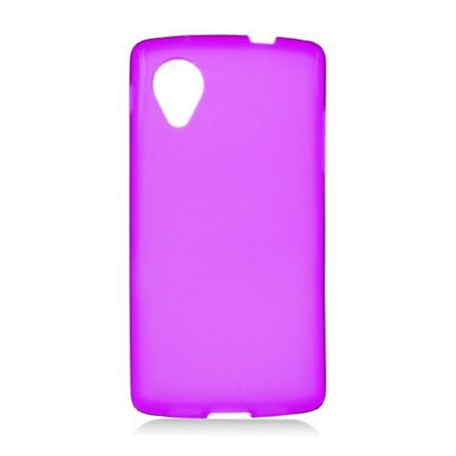 Insten Frosted Rubber Case For LG Google Nexus 5 D820, Purple