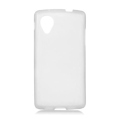 Insten Frosted Rubber Cover Case For LG Google Nexus 5 D820, White