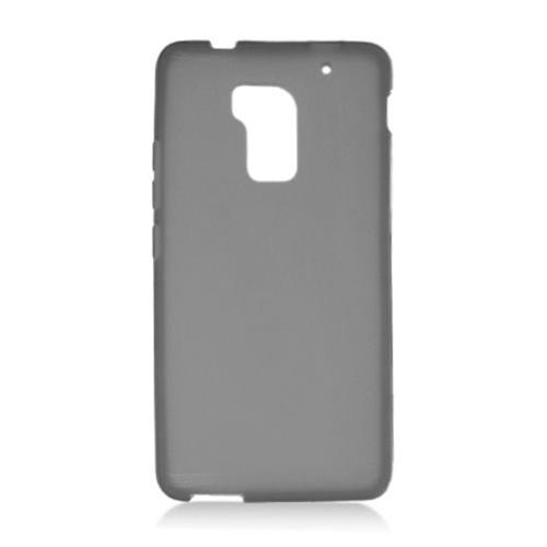 Insten Frosted Gel Case For HTC One Max, Smoke