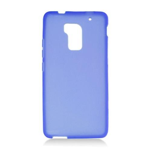 Insten Frosted Rubber Cover Case For HTC One Max, Blue