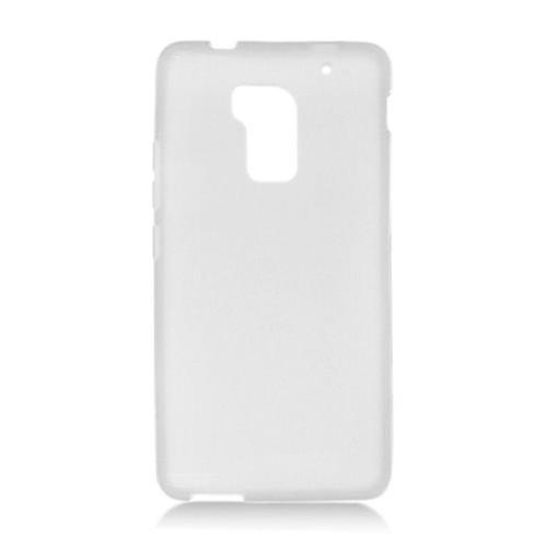 Insten Frosted Gel Cover Case For HTC One Max, White