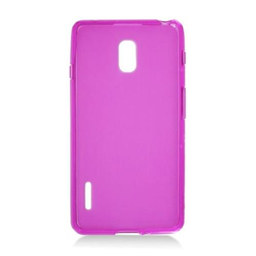 Insten Frosted TPU Case For LG Optimus F7 US780 (US Cellular), Hot Pink