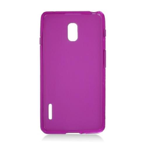 Insten Frosted Rubber Cover Case For LG Optimus F7 US780 (US Cellular), Purple