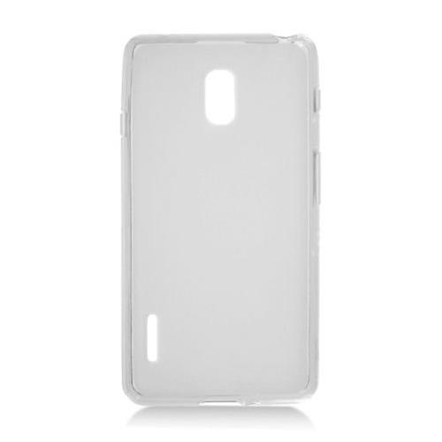 Insten Frosted Gel Case For LG Optimus F7 US780 (US Cellular), Clear