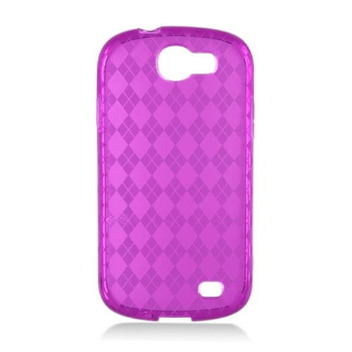 Insten Frosted Rubber Cover Case For Samsung Galaxy Express SGH-i437, Purple