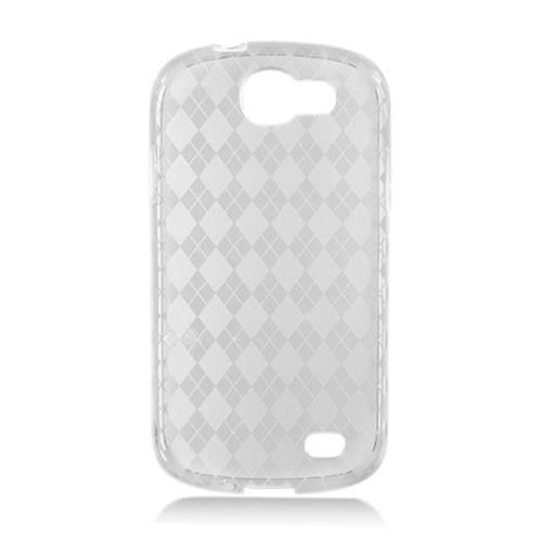 Insten Frosted Rubber Case For Samsung Galaxy Express SGH-i437, Clear