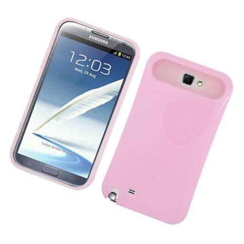 Insten Night Glow Hard Jelly Silicone Cover Case For Samsung Galaxy Note II, Pink