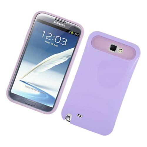 Insten Night Glow Hard Jelly Silicone Case For Samsung Galaxy Note II, Purple